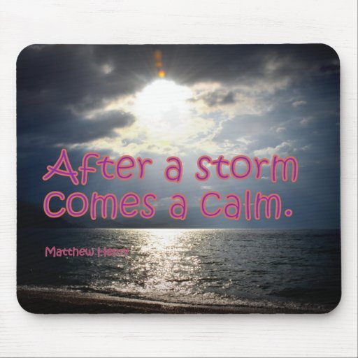 After a storm mouse pad