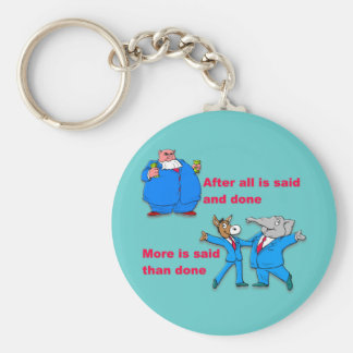 After all is said and done basic round button keychain