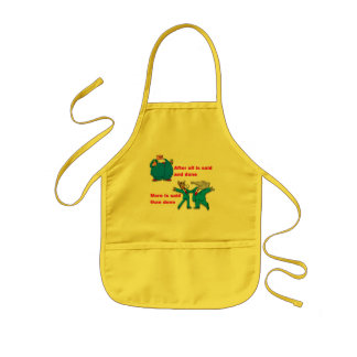 After all is said and done kids' apron