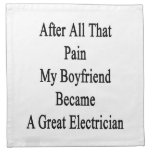 After All That Pain My Boyfriend Became A Great El Cloth Napkins