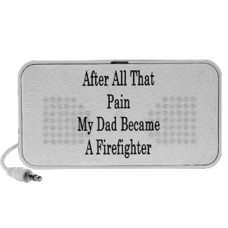 After All That Pain My Dad Became A Firefighter Mini Speakers