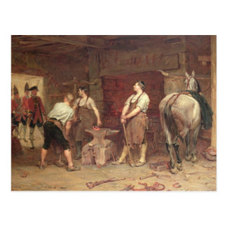 After Culloden: Rebel Hunting (oil on canvas) Postcard