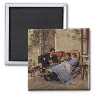 After Dinner, 1888 2 Inch Square Magnet