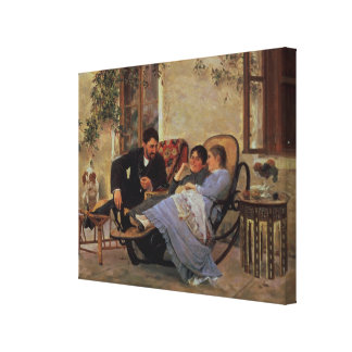 After Dinner, 1888 Canvas Print