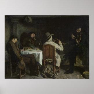 After Dinner at Ornans, 1848 Poster