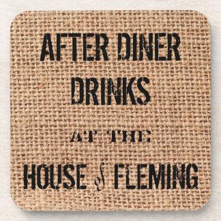 After Dinner Drinks Beverage Coaster