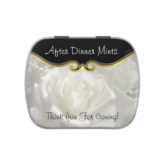 After Dinner Party Favor Mints Candy Tins
