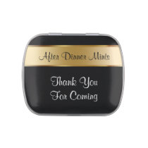 After Dinner Party Favor Mints Jelly Belly Candy Tin
