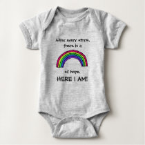 After Every Storm Rainbow of Hope Baby Bodysuit