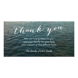 After Funeral Ocean Ripples Memorial Thank You Card