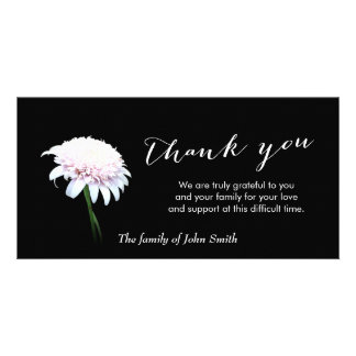 After Funeral White Daisy Memorial Thank You Card