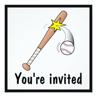 After-Game Baseball Invitation