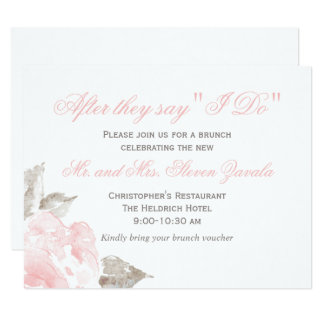 After I Do Cards | Pink Watercolor Roses