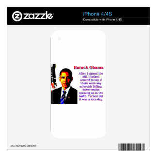 After I Signed The Bill - Barack Obama Skins For iPhone 4