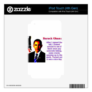 After I Signed The Bill - Barack Obama Skins For iPod Touch 4G