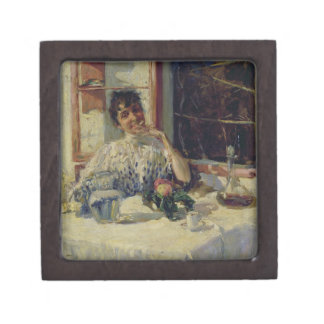 After Lunch at the Moncia, c.1900 Premium Jewelry Box