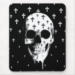 After Market, gothic skull with crosses Mousepads