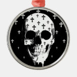 After Market, gothic skull with crosses Christmas Ornament