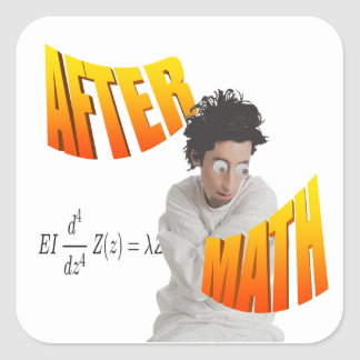 After Math Square Sticker