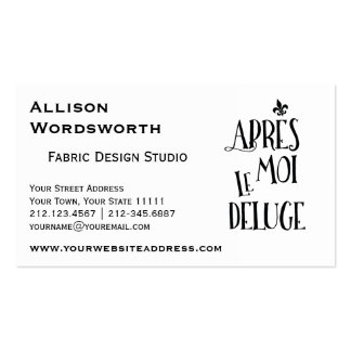After Me the Flood - French Expression Business Card