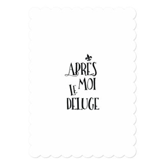 After Me the Flood - French Expression Card