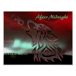 After Midnight Red Logo Poster