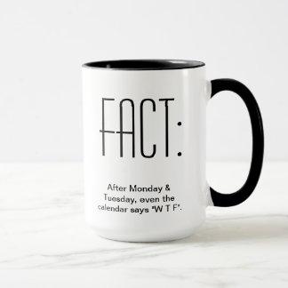 After Monday & Tuesday, even the Calendar says WTF Mug