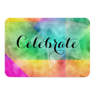 After Party Color Block Watercolor Design Card