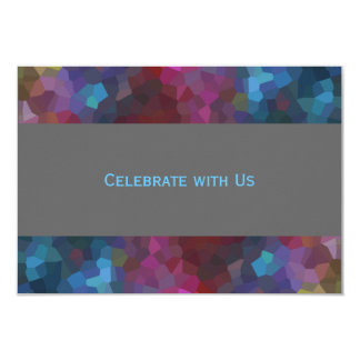 After Party Red Purple Blue Gray Abstract Design Card