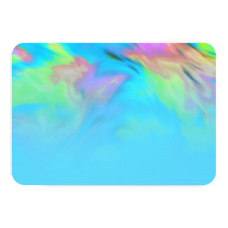 After Party Turquoise Blue Lime Pink Tye Dye Card