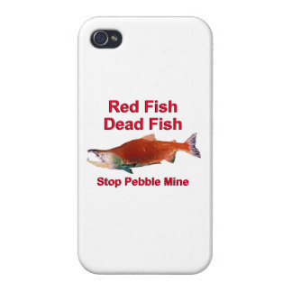 After Salmon - Stop Pebble Mine iPhone 4 Covers