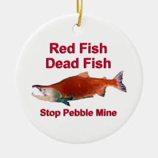 After Salmon - Stop Pebble Mine Christmas Tree Ornaments
