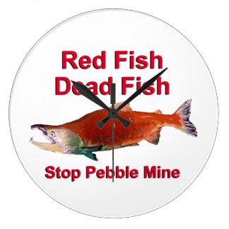 After Salmon - Stop Pebble Mine Wall Clocks
