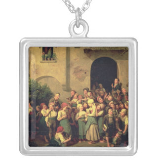 After School, 1844 Square Pendant Necklace