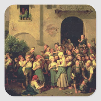 After School, 1844 Square Sticker