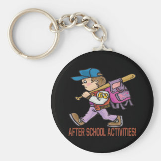 After School Activities Basic Round Button Keychain