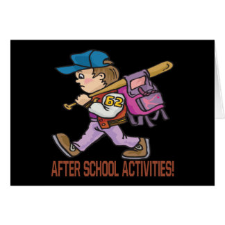 After School Activities Card