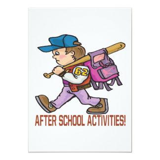 After School Activities Card