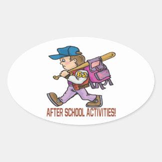 After School Activities Oval Sticker