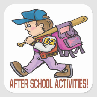After School Activities Square Sticker