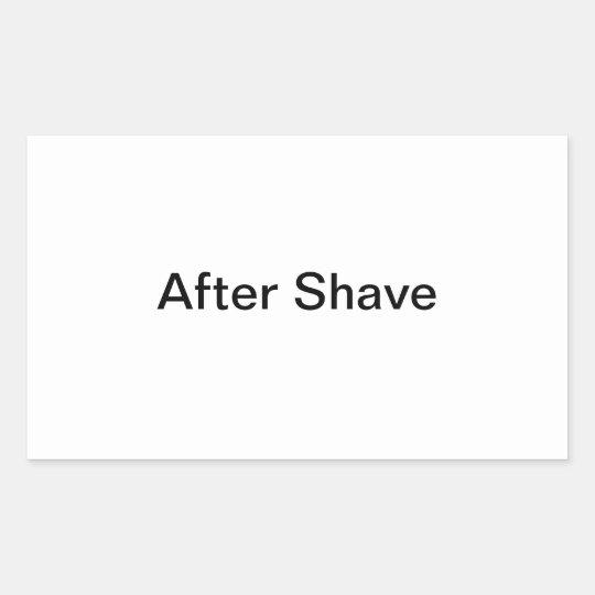 After Shave Labels/ Rectangular Sticker
