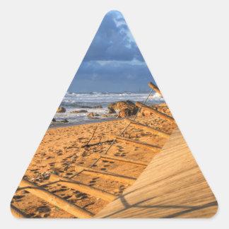 After storm beach... triangle sticker