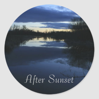 After Sunset Classic Round Sticker