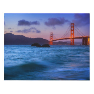 After sunset out at Baker Beach Panel Wall Art