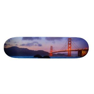 After sunset out at Baker Beach Skateboard
