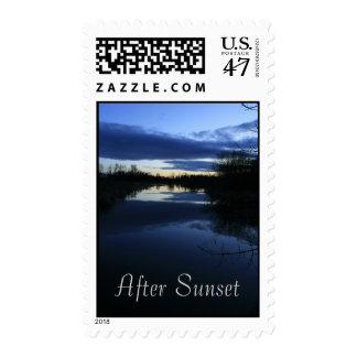 After Sunset Postage Stamp
