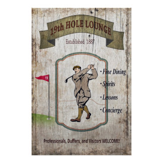 AFTER the BACK NINE - The 19th Hole Poster