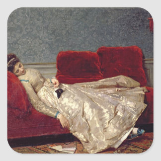 After The Ball, 1869 Square Sticker