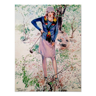 After The Ball - Vintage Golf Art Poster