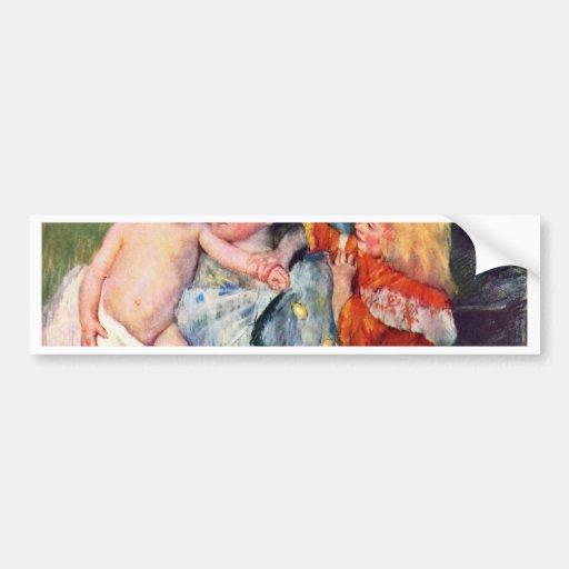 After The Bath By Cassatt Mary (Best Quality) Bumper Sticker
